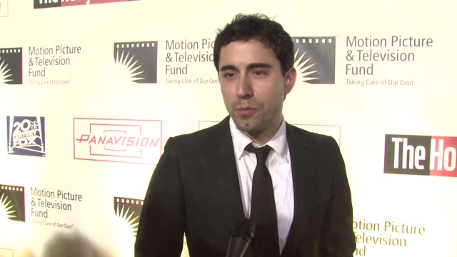 john lloyd young on being a part of the evening at the 'a fine romance' to benefit the motion picture television fund at los angeles ca - motion picture & television fund stock videos & royalty-free footage