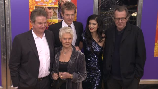 John Madden Judi Dench Graham Broadbent Tena Desae and Tom Wilkinson at The Best Exotic Marigold Hotel New York Premiere Presented By Fox Searchlight...