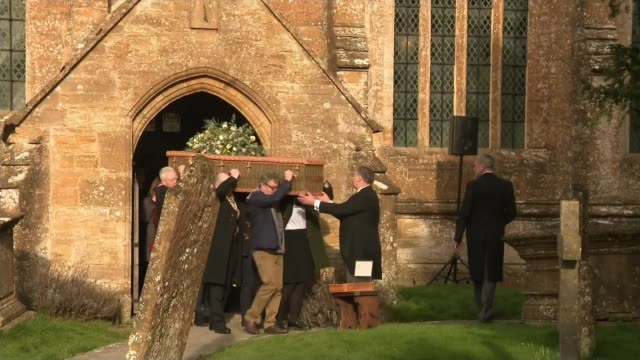 john major among guests at paddy ashdown's funeral england somerset nortonsubhamdon ext john major and others along arriving at funeral of paddy... - paddy ashdown stock-videos und b-roll-filmmaterial
