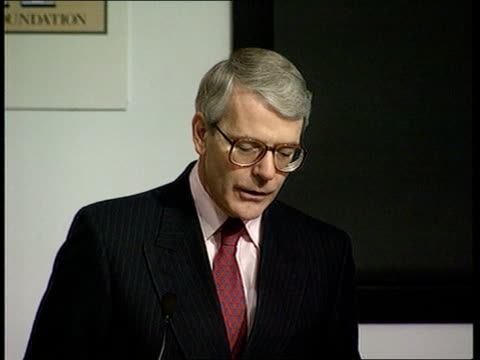john major 'declares war' on inner city wastelands dnao london hackney ext tms john major and others towards cms ditto ws block of flats tilt up more... - persuasion stock videos and b-roll footage