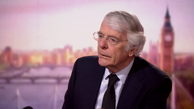 john major explaining how he thinks the royal family will change in the coming years - queen royal person stock videos & royalty-free footage