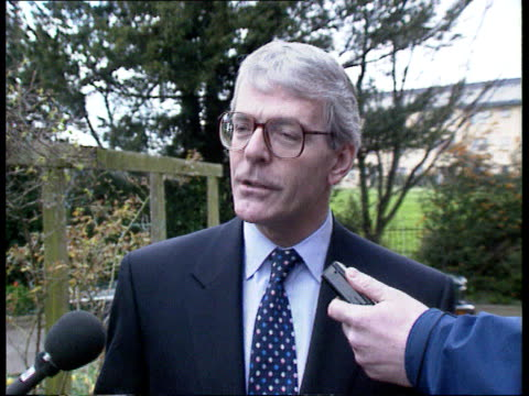 john major questions over leadership england cambridge huntingdon ms prime minister john major mp along towards with local party members after... - pms stock videos and b-roll footage