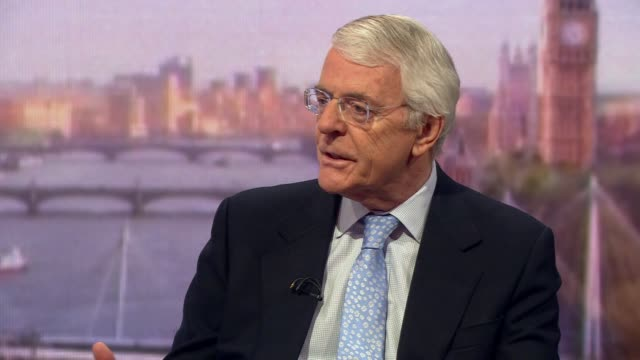 john major saying a new prime minister wouldn't change much in the brexit debate - leadership stock videos & royalty-free footage