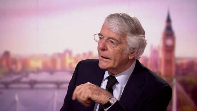 """john major talking about prince philip's interest in cricket - """"bbc news"""" stock videos & royalty-free footage"""