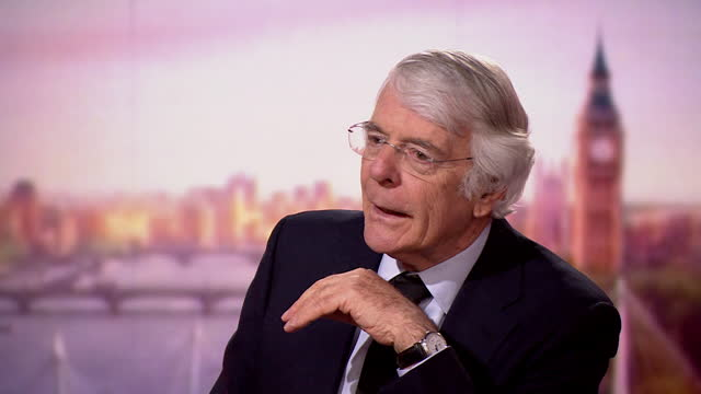 """john major talking about the concern prince philip had for the monarchy during the 'annus horribilis' of 1992 - """"bbc news"""" stock videos & royalty-free footage"""