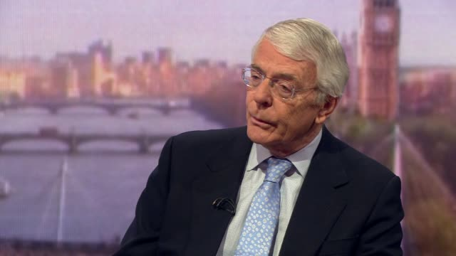 john major talking about whether theresa may would bring her brexit deal to a commons vote for a fourth time - number 4 stock videos & royalty-free footage