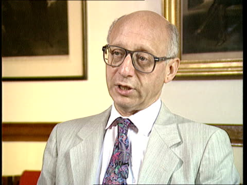 john major visit; england: int cms gerald kaufman intvw sof - major should tell china that a proper relationship depends on improvement on their... - gerald kaufman stock videos & royalty-free footage
