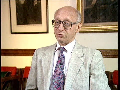 john major visit; itn england: london cms gerald kaufman intvw sof - major is first western leader to shake hands with people who ordered tiananmen... - gerald kaufman stock videos & royalty-free footage