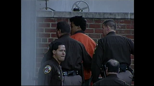john malvo, one of the dc sniper suspects being transported to court. - 2002 stock videos & royalty-free footage