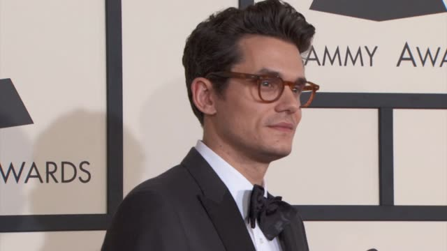 john mayer at the 57th annual grammy awards red carpet at staples center on february 08 2015 in los angeles california - grammy awards stock videos and b-roll footage