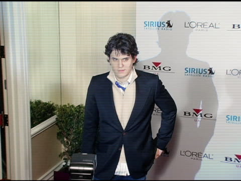 john mayer at the clive davis' 2005 pre-grammy awards party arrivals at the beverly hilton in beverly hills, california on february 12, 2005. - clive davis stock videos & royalty-free footage