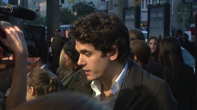 john mayer at the 'the bucket list' premiere at the cinerama dome at arclight cinemas in hollywood california on december 16 2007 - arclight cinemas hollywood stock videos and b-roll footage