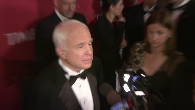 john mccain at the time's 100 most influential people in the world at jazz at lincoln center in new york, new york on may 8, 2008. - john mccain stock videos & royalty-free footage