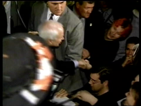 john mccain shaking hands with supporters john mccain speech sot - there will be no negative ads in this campaign from the mccain campaign - john mccain stock videos & royalty-free footage