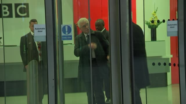 john mcdonnell arrival at bbc and interview; england: london: ext john mcdonnell mp arriving at new broadcasting house / john mcdonnell mp interview... - vanessa feltz stock videos & royalty-free footage