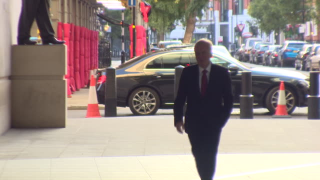 john mcdonnell arriving at bbc broadcasting house for an interview with andrew marr - john mcdonnell politician videos stock videos & royalty-free footage