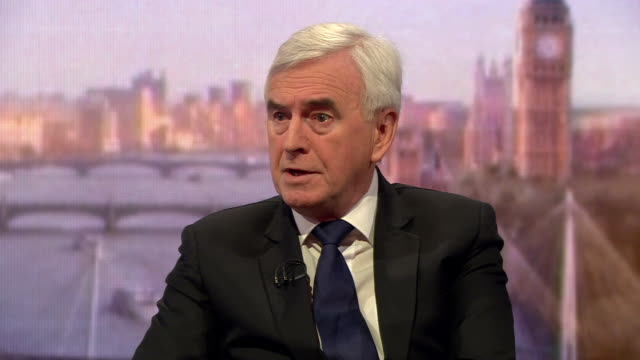 John McDonnell saying a No Deal Brexit would be 'catastrophic' and a prospective Labour government would have the 'plans in place' to deal with any...