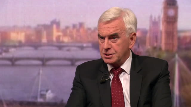 john mcdonnell saying everything about jeremy corbyn is about building consensus and that you need to bring people with you in regards to the labour... - john mcdonnell politician videos stock videos & royalty-free footage