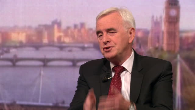 john mcdonnell saying he and jeremy corbyn go back forty years we're the closest of friends - john mcdonnell politician videos stock videos & royalty-free footage