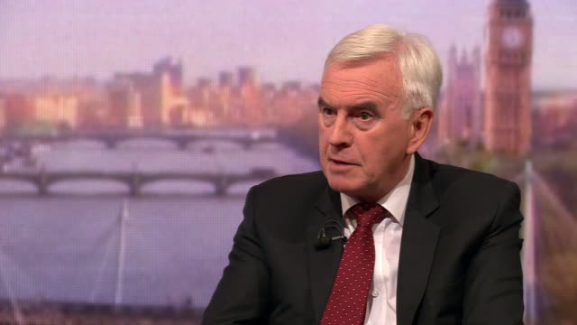 john mcdonnell saying he and jeremy corbyn will disagree on policies before he builds a consensus where they back each other up - john mcdonnell politician videos stock videos & royalty-free footage