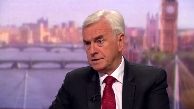john mcdonnell saying he believes boris johnson is prioritising a no deal brexit - john mcdonnell politician videos stock videos & royalty-free footage