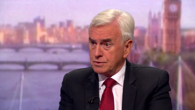 john mcdonnell saying he believes the eu would shift on some brexit positions in negotiations - john mcdonnell politician videos stock videos & royalty-free footage