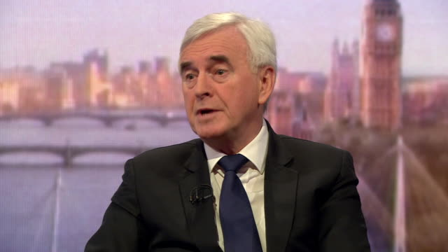 John McDonnell saying he believes the MPs looking to split from Labour are 'Labour through and through' and that he sees no need for them to leave