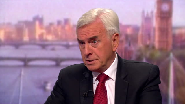 john mcdonnell saying he believes the significance of hilary benn's parliamentary bill would enable the eu to grant a brexit extension - john mcdonnell politician videos stock videos & royalty-free footage