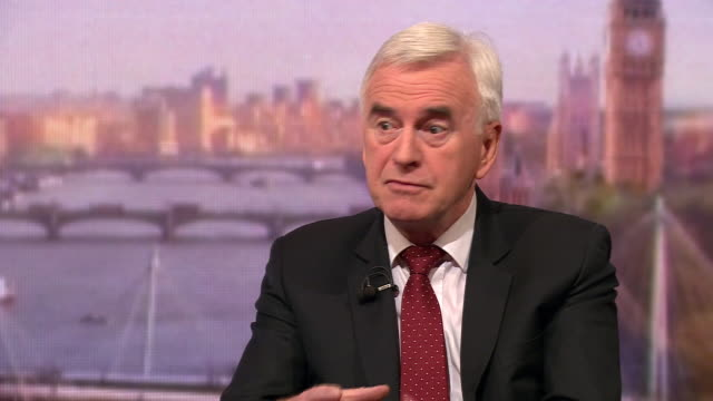 john mcdonnell saying labour believe if a brexit deal can't be made the decision should go back to the people - john mcdonnell politician videos stock videos & royalty-free footage