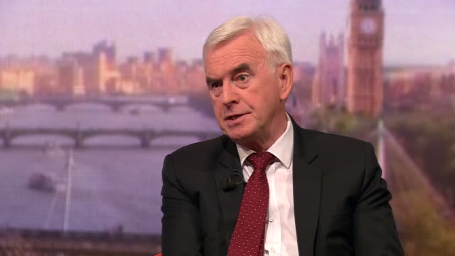 john mcdonnell saying labour have no plans to nationalise bt - john mcdonnell politician videos stock videos & royalty-free footage