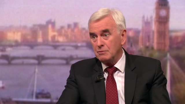 john mcdonnell saying labour needs to express a clear view on brexit but jeremy corbyn is wisely trying to build a party consensus first - jeremy corbyn stock videos and b-roll footage