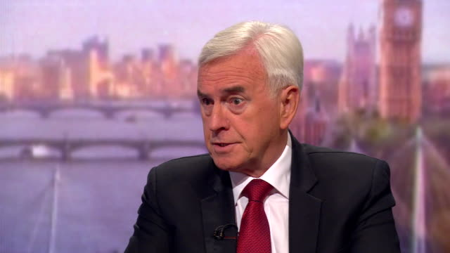 john mcdonnell saying labour should take the harold wilson approach in forming a brexit policy - john mcdonnell politician videos stock videos & royalty-free footage