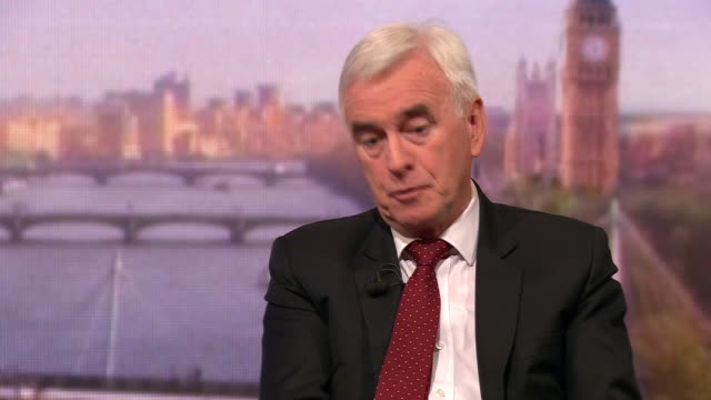 john mcdonnell saying labour will surprise people in a general election as we did in 2017 and we will go into office as a united party - john mcdonnell politician videos stock videos & royalty-free footage