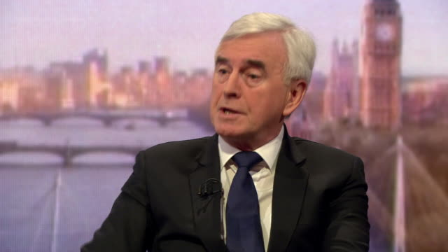 John McDonnell saying MPs leaving the Labour party would be like the SDP split in the 1980s