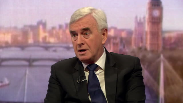 John McDonnell saying the government has got to come back with 'a realistic Brexit deal' and the option for a People's Vote should be there if it...