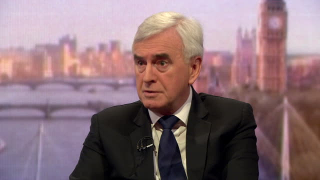 John McDonnell saying the UK has to 'step up to our responsibility' and put UK citizens who fought for terror organisations abroad on trial