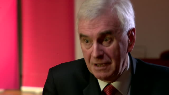 john mcdonnell saying the uk will fall behind if it doesn't offer a comprehensive broadband service nationwide - john mcdonnell politician videos stock videos & royalty-free footage