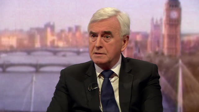 John McDonnell saying Theresa May 'needs to start negotiating' a Brexit deal with the Labour Party