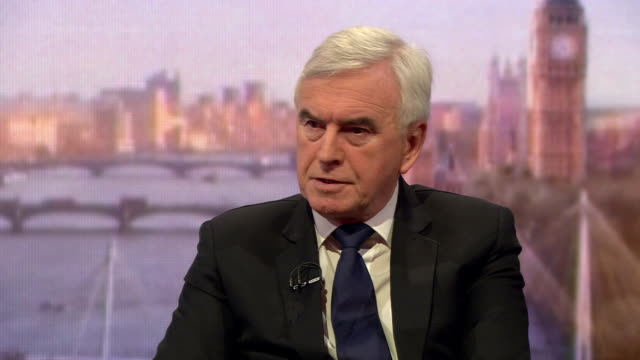John McDonnell saying Theresa May's Brexit negotiations with the EU were 'never based on mutual interests or mutual respect'