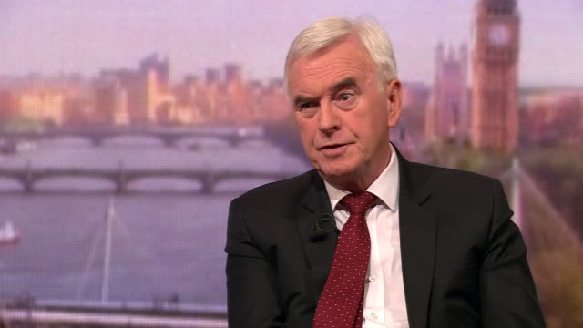 john mcdonnell saying when labour's manifesto is published in the next general election the party will shoot up the polls - john mcdonnell politician videos stock videos & royalty-free footage