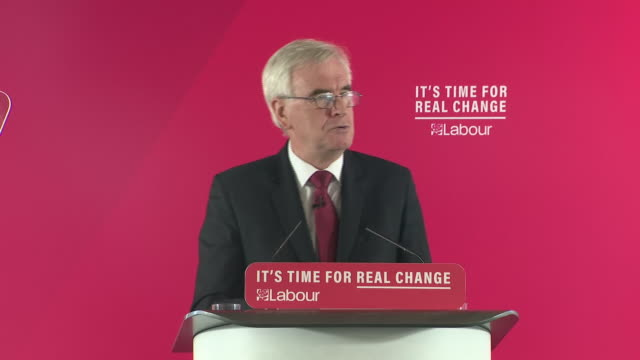 john mcdonnell saying when opponents attack him and jeremy corbyn it is not about us it's about you - john mcdonnell politician videos stock videos & royalty-free footage