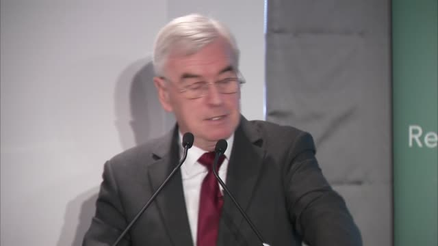 John McDonnell speech at the Resolution Foundation ENGLAND London Westminster INT John McDonnell MP speech SOT re failure of austerity / productivity...