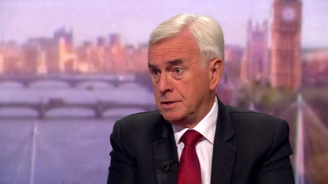 john mcdonnell talking about a second eu referendum and that he would vote remain - john mcdonnell politician videos stock videos & royalty-free footage