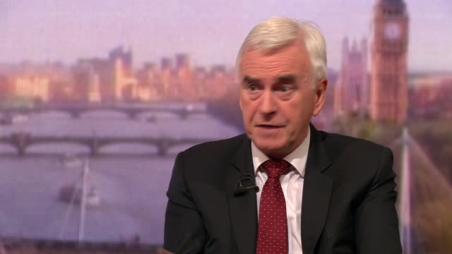 john mcdonnell talking about his plans for longterm investment in the north of england - john mcdonnell politician videos stock videos & royalty-free footage