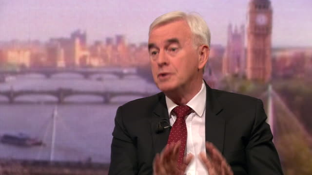 john mcdonnell talking about how he would sanction companies who don't meet standards required to tackle climate change - john mcdonnell politician videos stock videos & royalty-free footage