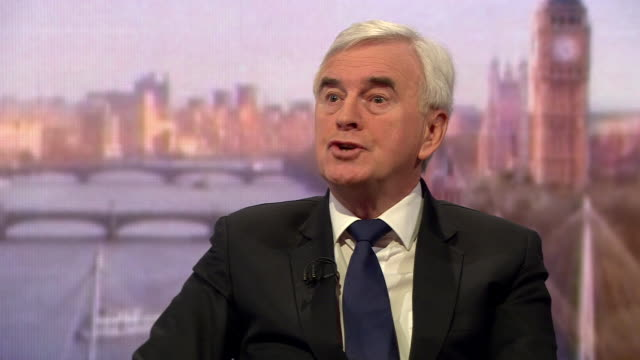 John McDonnell talking about the Labour Party's approach to tackling antisemitism in the party