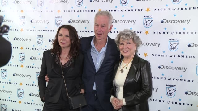 john mcenroe bette midler at the natural resources defense council presents night of comedy benefit hosted by seth meyers at new york historical... - seth meyers stock videos and b-roll footage