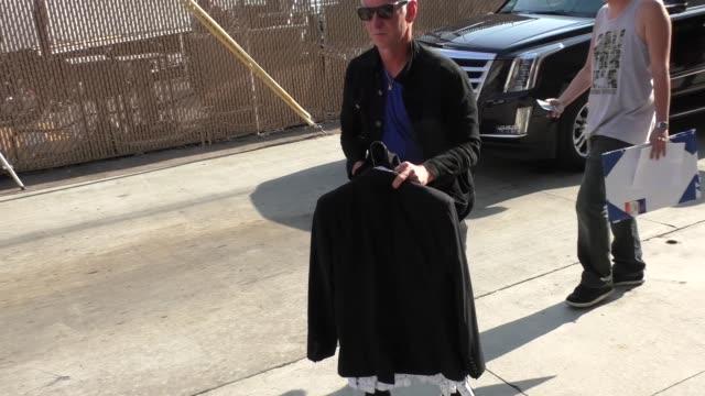 stockvideo's en b-roll-footage met john mcenroe outside jimmy kimmel live in hollywood at celebrity sightings in los angeles on august 19, 2015 in los angeles, california. - jimmy kimmel