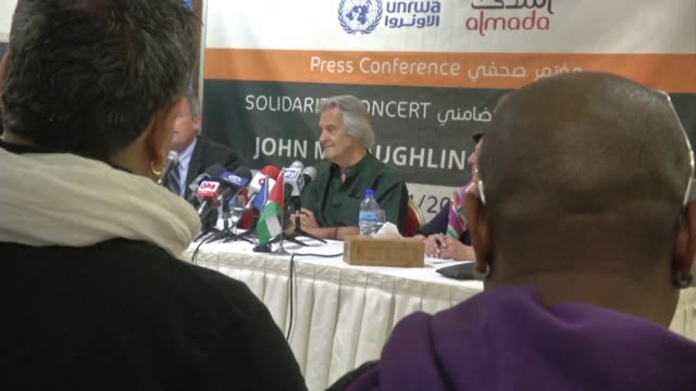 john mclaughlin the 72 year old legend of jazz guitar and pioneer of fusion will play a concert in ramallah on wednesday to support a palestinian ngo... - music therapy stock videos & royalty-free footage
