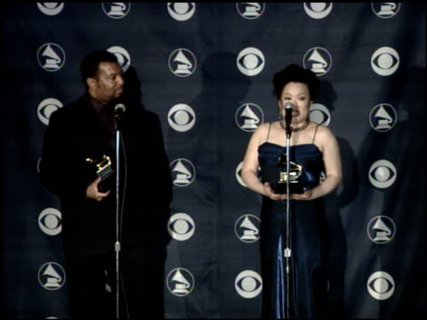 john mclaughlin williams and angelin chang, nominee best instrumental soloist performance at the 2007 grammy awards press room at staples center in... - soloist stock videos & royalty-free footage